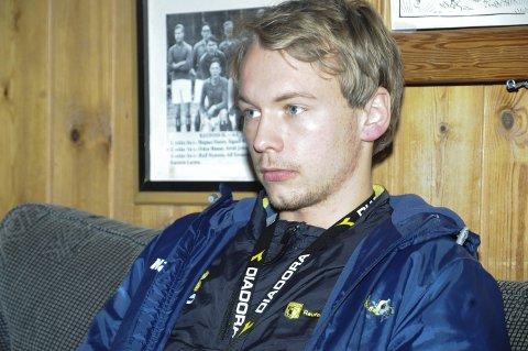 VANSKELIG: Fredrik Greve Monsen innrømmer at det er spesielt at Espen Haug ikke er på treningsfeltet.