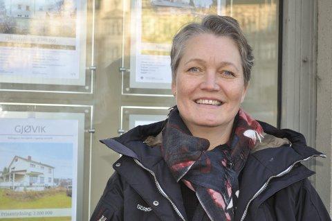 INGEN FARE: Gry Monica Brovold, daglig leder ved DnB Eiendom i Gjøvik.
