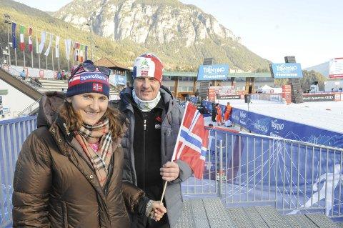 Finaleklare: Marthe Flugstad og Helge stberg er klare til å følge datteren Ingvild på de to siste etappene i årets Tour de Ski. Foto: Tommy Gullord