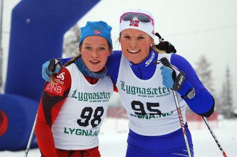 Finaleklare: Maren Wangensteen og Mari Eide er klare for finalen i lagsprinten på Gålå. Arkivbilde