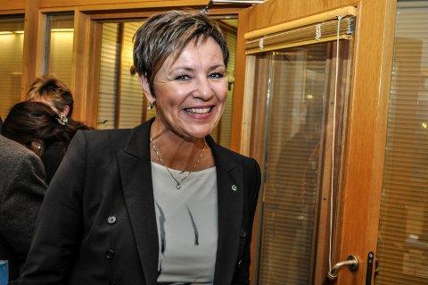 FLYTTER BOMMEN: Stortingets transportkomité vil bygge ny riksvei 4 forbi Lygnasætere samt flytte bommen. I likhet med de andre lokale politikerne er  stortingsrepresentant Anne Tingelstad Wøien (Sp) strålende fornøyd. ARKIVBILDE