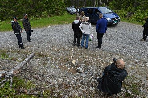 ÅSTEDET: Alle de tre tiltalte deltok i en rekonstruksjon på Veståsen i sommer. Arkivbilde