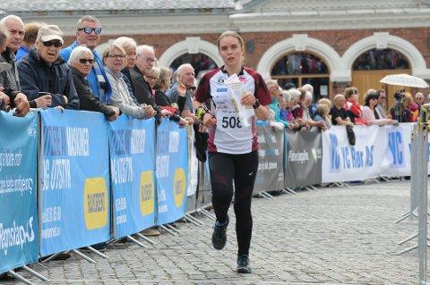 NM-FINALE: Jasmin Schwammberger ble nummer 24 i finalen i D17-18 under NM-sprinten på Hamar. Foto: Tommy Gullord