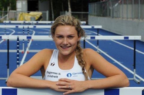 Kristine Berger Akervold løper forsøk på 100 meter hekk i U20-EM i Italia fredag morgen. Målet er å gå videre til semifinalen. Foto: Tommy Gullord
