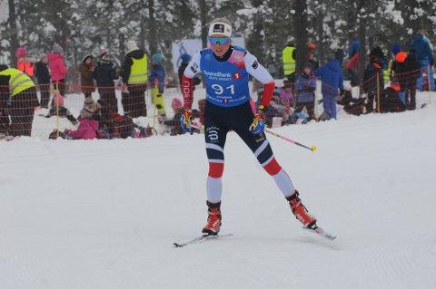 Marte Mæhlum Johansen ble nummer 14 på dagens skiatlon i NM på Gåsbu. Foto: Tommy Gullord