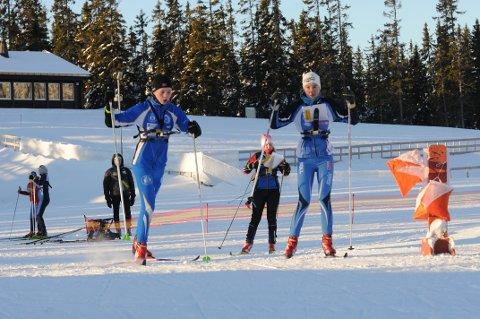 Lars Lien (t.v) gikk til topps i Hovedløpet i ski-o på Gåsbu lørdag.