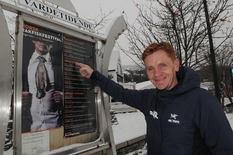 STARTKLAR: Håvard Halvorsen er nok en gang klar til Norsk Rakfiskfestival. – Festivalen er stor nok, nå jobber vi få enda mer kvalitet, er hans oppskrift foran 2018-utgaven.