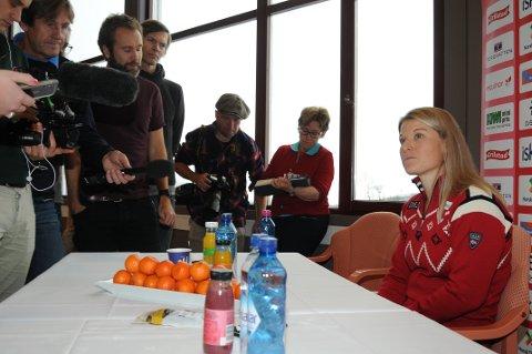 Mari Eide innrømmet at hun var nervøs da hun møtte et samlet norsk pressekorps foran sesongåpningen på Beitostølen.