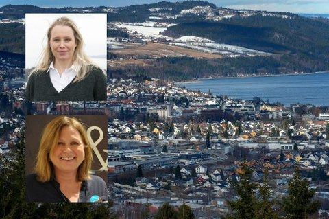 KLAR FOR 2019: Camilla Hveem i Eiendomsmegler1 og Runi Bjerke i Gjestvang & Partners er klar til å brette opp ermene i 2019.