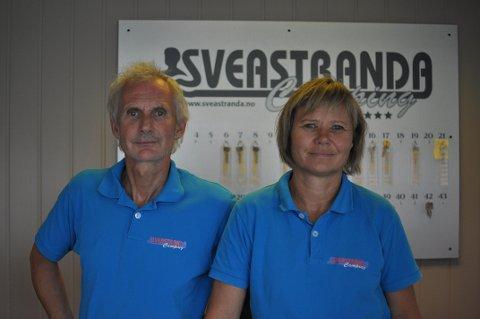 Positive til årets sesong: Mette og Ole Petter er positive til at årets sommersesong vil gå like bra som både i fjor og forfjor.