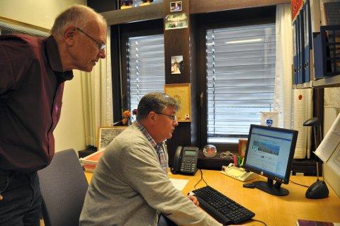 SER FREMOVER: Plan- og prosesskoordinator i Gjøvik kommune, Bjørn Evensen, her med ordfører Bjørn Iddberg, har store ambisjoner for Gjøvik og byens infrastruktur.