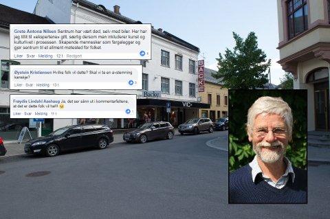 STORT ENGASJEMENT: Peter Butenschøn mener bilfrie bysentra er eneste vei å gå for å beholde livlige handelssteder med plass til gående og syklister. Artikkelen som ble publisert mandag har skapt stort engasjement på OAs Facebook-side.
