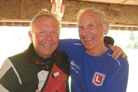 Tor Bjørnødegård (til venstre) og Odd Kolsrud klassevant i alle de fire Valdrescupstevnene i helga.