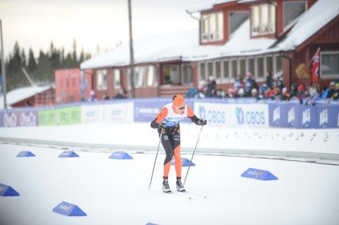 Simen Bratberg Ramstad ble beste lokale løper på 63. plass i herreklassen under NM i Meråker.