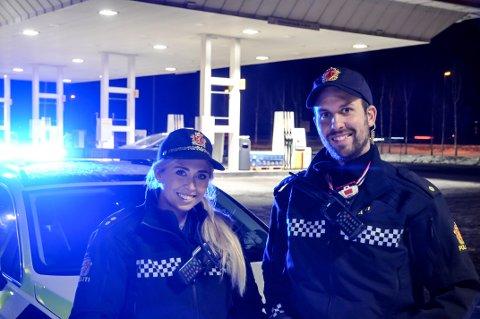 SUKSESS: Veronica Saxrud (27) og Eirik Petterøe (29) har utmerket seg i jakten på ruskjørere i Innlandet.