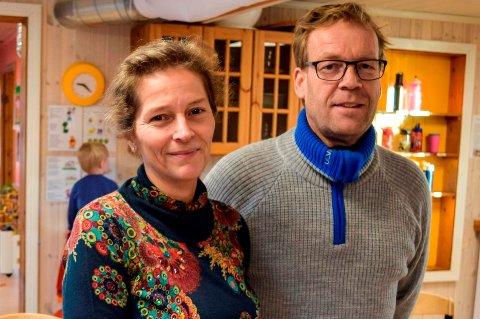 FORNØYD: Tone og Christian Solberg har solgt barnehagen de bygde og aldri fikk drive til kommunen.