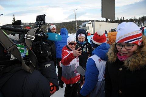 Ingvild Flugstad Østberg var den mest populære utøverne for selfie-jegerne under NM i Meråker.