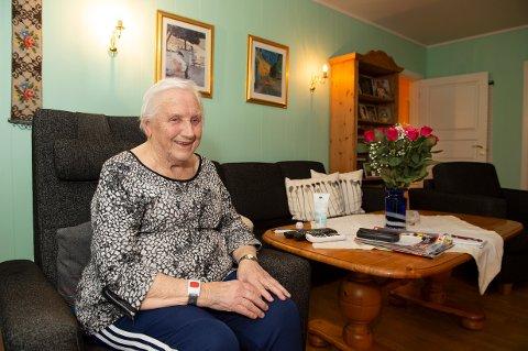 TROFAST BEBOER: Karin Hagberg (89) har bodd i Wergelandsgate i 67 år.