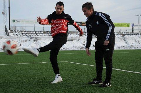 Rocku Lekaj er klar til å fyre løs for FK Gjøvik-Lyn. Lørdag debuterer han for sin nye klubb sammen med gamletrener Espen Haug i treningskamp mot Brumunddal på Gjøvik stadion.
