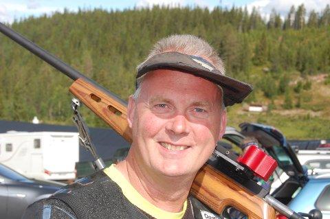 SESONGBESTE: Roger Ottosen skjøt til sesongbeste da han ble andremann totalt i Krystallstevnet.