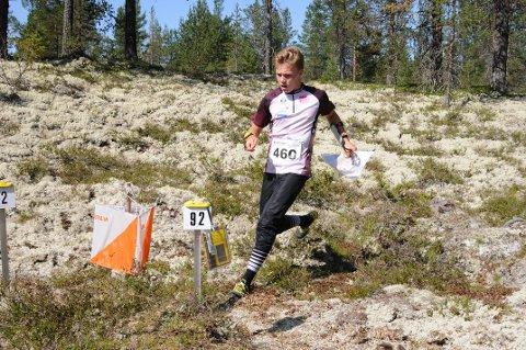 Lars Lien fra Gjø-Vard løp inn til KM-gull i H15-16 på Vangsåsen i helga.