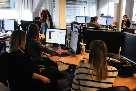 NY ARBEIDSPLASS: En ny bedrift, kundesenteret Kulant As, er etablert i kjølvannet etter Schibsteds kundesenter på Fagernes. Foto: Ingvar Skattebu