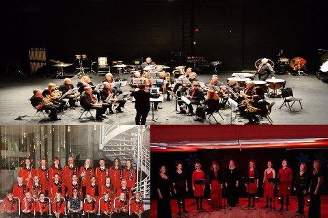 Dokka Musikkorps, Dokka Skolekorps og sanggruppa MIST blir å høre på nyttårskonsert i Sentrum Kino.