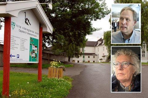 VET IKKE OPPRINNELSEN: Rektor Nils-Fredrik Pedersen og fungerende kommuneoverlege Karin Frydenberg iverksetter tiltak etter at to elever ved Lena-Valle videregående skole antas å være smittet.