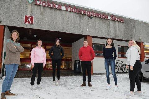 VIKTIG TILBUD: Helserådgiver Marthe Hasle, Anine Slettum Fakstad, Jeanette Sæther, Jonas Vikersveen, Anna Hagenborg og Ingeborg Nystuen.