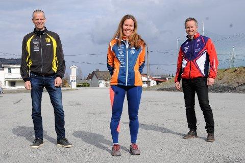 Odd Arnvid Bollingmo (f.v) fra Raufoss, Pernilla Egedius fra Vind og Peter Lerche Raadal håper det nye konseptet for GT-karusellen vil falle i smak.