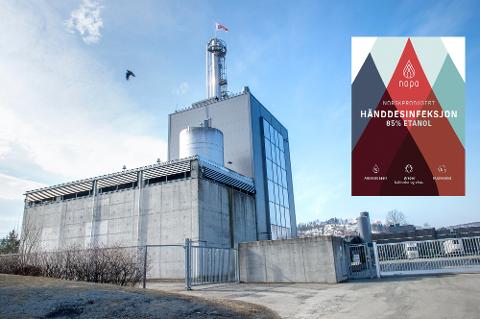 EGEN HÅNDSPRIT: HOFF lanserer Nopo Norskprodusert Hånddesinfeksjon. Og Norengros har kjøpt det første partiet