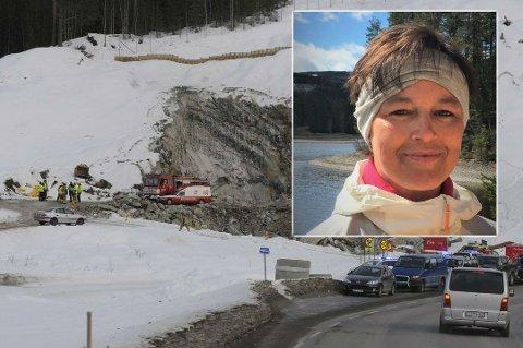 LETTET: Kari Anne Haugrud er lettet over at Valdres tingrett kom til at Statens vegvesen og entreprenøren hadde ansvaret for ulykken som resulterte i ektemannens død. Foto: Privat