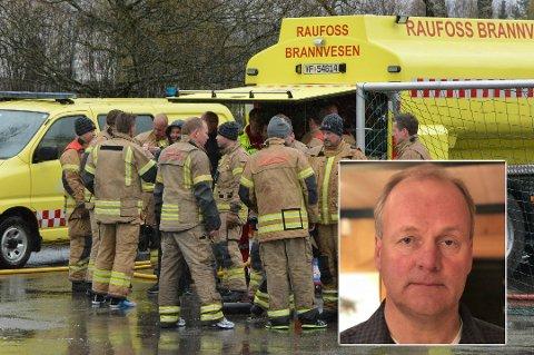 BEKYMRET FOR SIKKERHET: Nestleder i PF Innlandet Finn Arne Hvalbye er bekymret for sikkerheten for de ansatte i brann- og redning når de er først på åsted uten kompetansen politiet har.