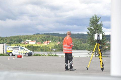 TRAGISK: På Statens vegvesens område skjedde den tragiske ulykken fredag.