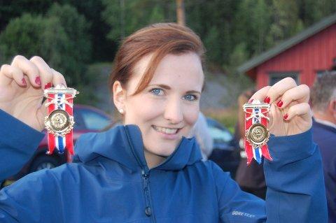 DOBBELTVINNER: Anne Ingeborg Sogn Øiom vant begge de to skytterstevnene i Valdres, og viste stødig form.