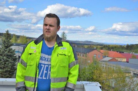 KLAR TALE: Sindre Ensrud, klubbleder ved Benteler på Raufoss.