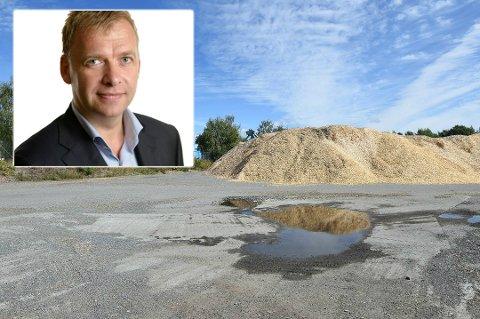 FUNN AV METAN: På Huntonstranda i Gjøvik er det gjort funn av metan, noe som overrasker Hunton-sjef Arne Jebsen.