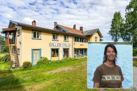 SELGER: Ann Elisabeth Caldecourt (innfelt) selger kunstnerboligen i Søndre Land da hun ikke er i stand til å ta vare på det alene.