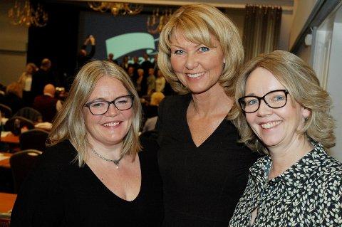 KVINNEKAMP: Kari-Anne Jønnes (t.v.), Hanne Velure og Anne Bjertnæs kjemper om å bli Olemic Thommessens etterfølger.