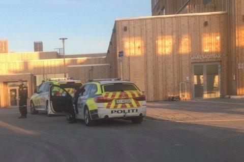 Rykket ut: Politiet på plass ved Mjøstårnet fredag.