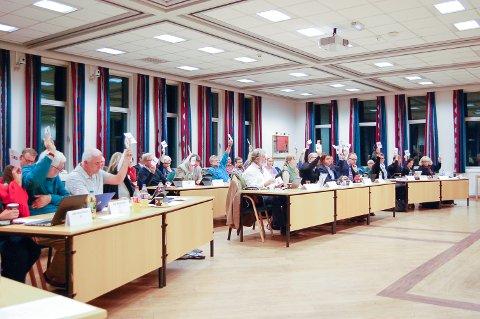 TRE SA NEI: Sp og MDG ville sende planen tilbake, men fikk ingen støtte i kommunestyret i Ski.