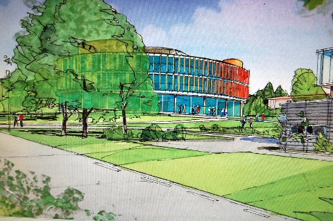 Innovasjonssenter: ØKAW Arkitekter har tegnet innovasjonsbygget på Campus Ås som en bygning uten kanter.
