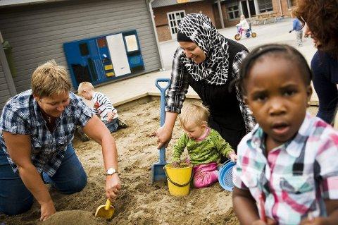 Integrering: I 2016 skal Follo-kommunene bosette tilsammen 330 flyktninger. Bildet er fra Søråsteigen barnehage i Ås høsten 2010.