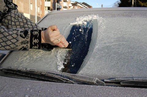 DÅRLIG SKRAPT: Is på rutene var en av grunnene til at det gikk galt, mente Oppegård-mannen. Illustrasjonsfoto