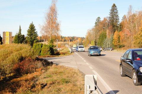 IKKE AVKJØRING HER: Linås ligger øst for Langhusveien. Men Statens vegvesen sier nei til ny avkjørsel.