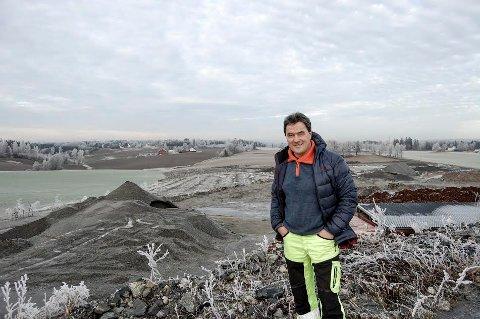 FÅR NEI: Per Ove Siggerud vil drive gjenvinningsanlegg for masser på Haug gård, men Fylkesmannen mener at området ikke er egnet til det formålet.