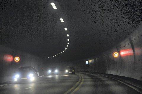 NATTESTENGT: Oslofjordtunnelen er stengt på grunn av vedlikeholdsarbeid