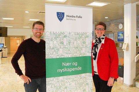 NÆRT OG NYSKAPENDE LOKALDEMOKRATI: Varaordfører Hans Martin Enger og ordfører Hanne Opdan lover at åpenhet skal stå i sentrum i Nordre Follo kommune.