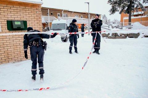 Oslo  20190207. En kvinne er funnet død i en leilighet på Bjørndal i Oslo. Politiet anser dødsfallet som mistenkelig. Foto: Håkon Mosvold Larsen / NTB scanpix
