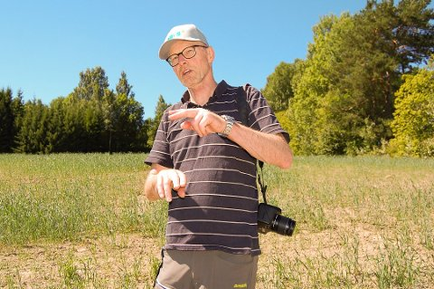 RAMMET MANGE: Landbrukssjefen i Follo, Lars Martin Julseth, anslår at 80 prosent av de aktive brukene i Follo har søkt om erstatning for avlingsskader i 2018.